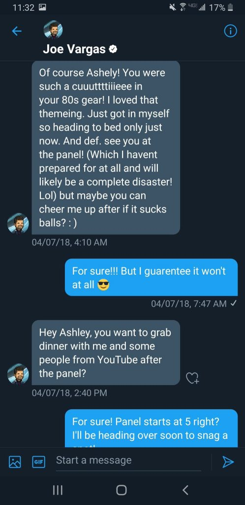 Angry Joe DM Message