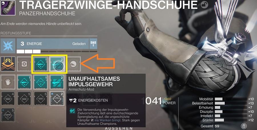 Artefakt-Mods in der Rüstung