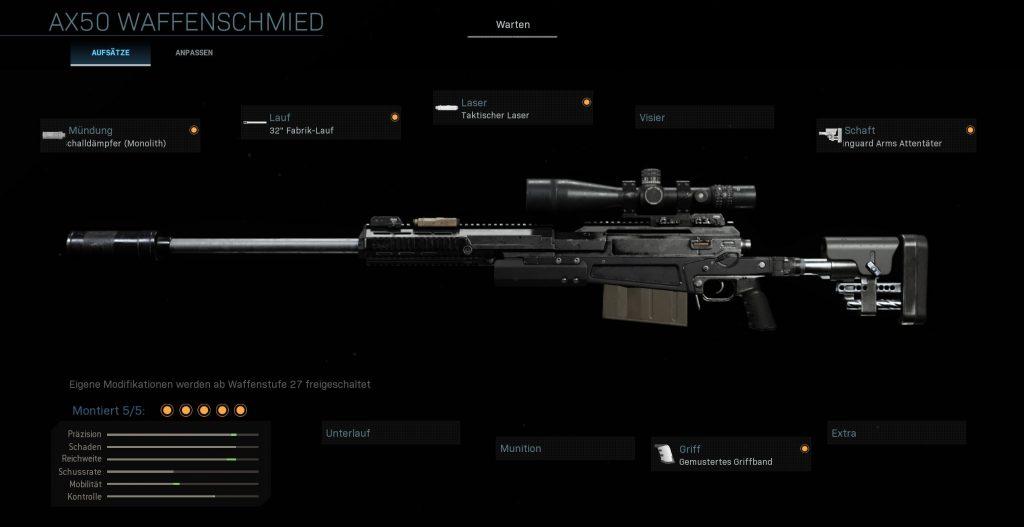 Call fo Duty Warzone AX 50 Spratt