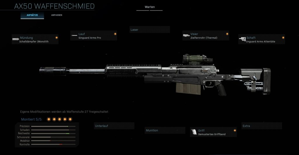Call fo Duty Warzone AX 50 bester build