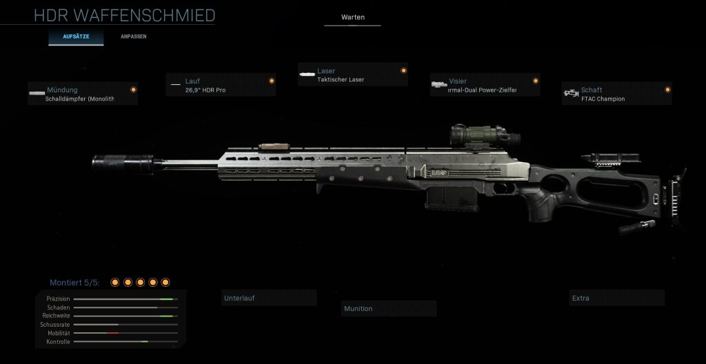 Call fo Duty Warzone HDR bester Build