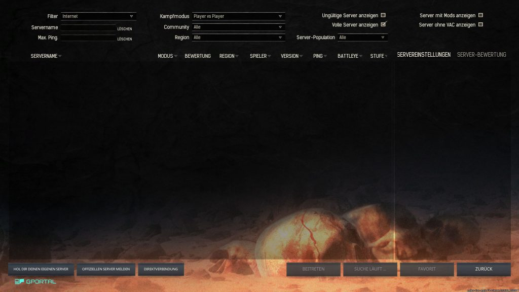 Conan Exiles kaputter server browser