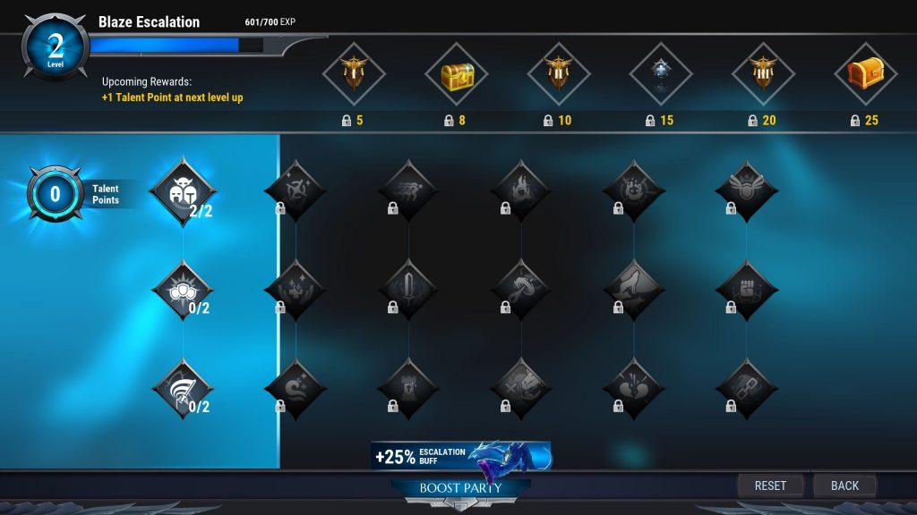Dauntless Escalation Talente