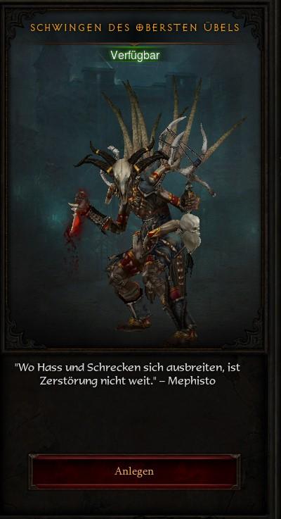 Diablo 3 Schwingen des obersten Übels