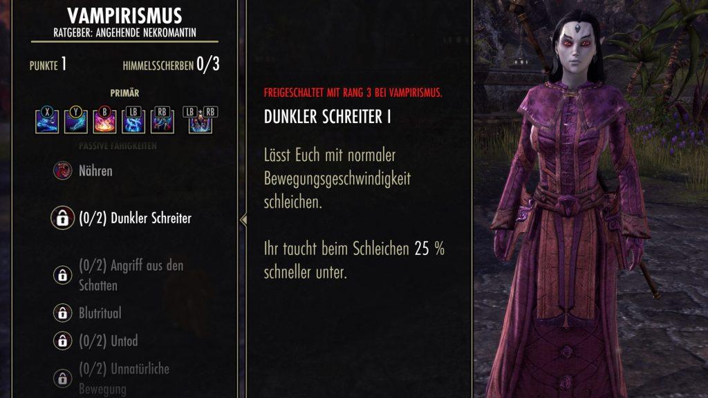 ESO Vampirskill Dunkler Schreiter