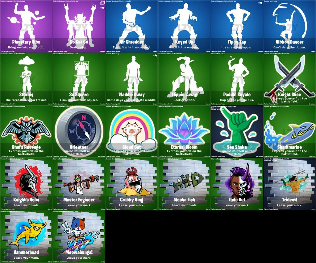 Fortnite Season 3 Emotes Pickaxe Leak