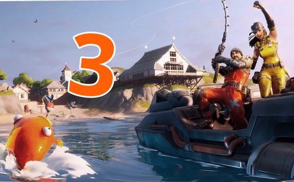 Fortnite Season 3 Wasser Boot Fisch Titel