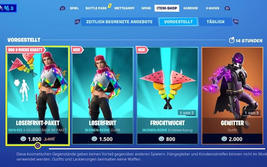 Fortnite-loserfruit-shop