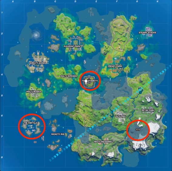 Fortnite-season-3-mythische-Waffenmap