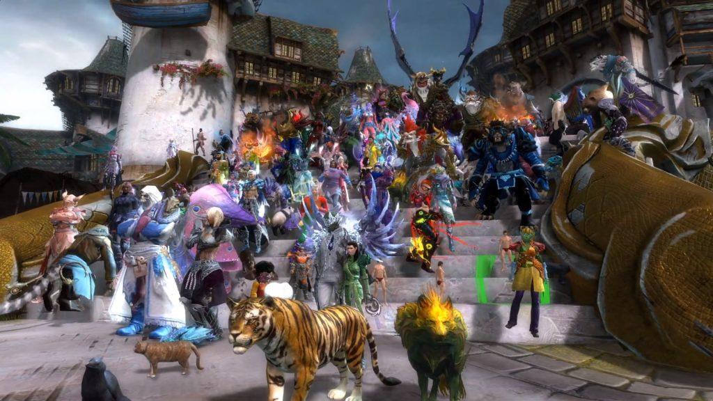 Tyria Pride Parade Treppe