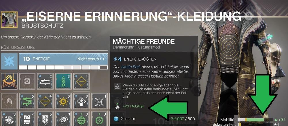 Mächtige Freunde Mod Licht geladen Destiny 2