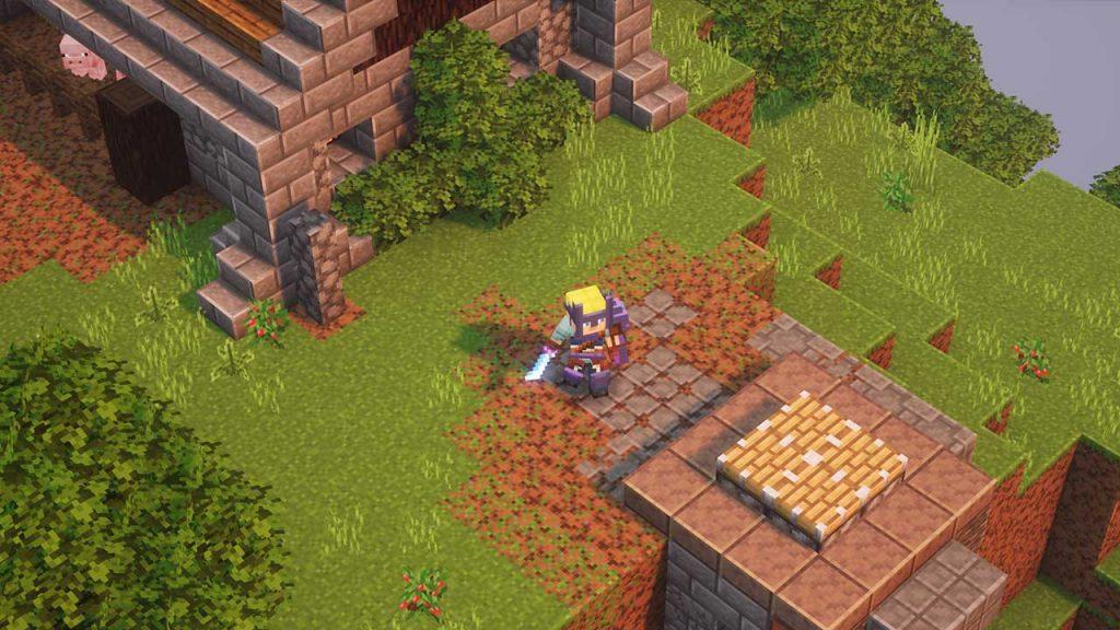 Minecraft-Dungeons-Sprungplattform-Lobby