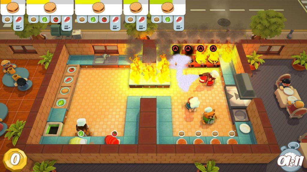 Overcooked brennende Küche Steam