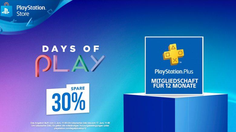 Schnappt euch jetzt 1 Jahr PS Plus 30% günstiger bei Days of Play im PS Store