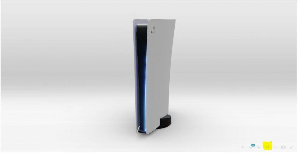 PS5 Design im Wohnzimmer