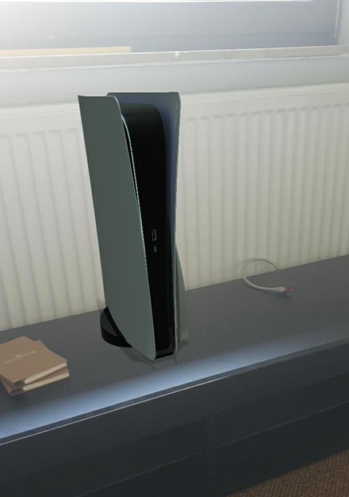 So sieht die PS5 in der Wohnung aus