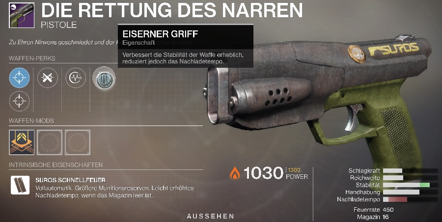 Pistole Eisenbanner neuer Perk Season 11 Destiny 2