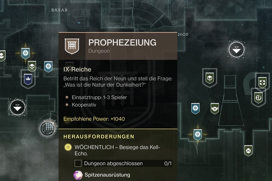 Prophezeiung Dungeon Turm Start Season 11 Arrival Destiny 2