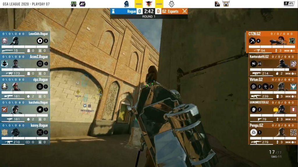 Rainbow Six Siege Border G2 CTZN Waffe mit Schalldämpfer