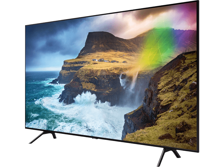 Samsung GQ65Q70R UHD-TV mit QLED-Technik in der Schrägansicht