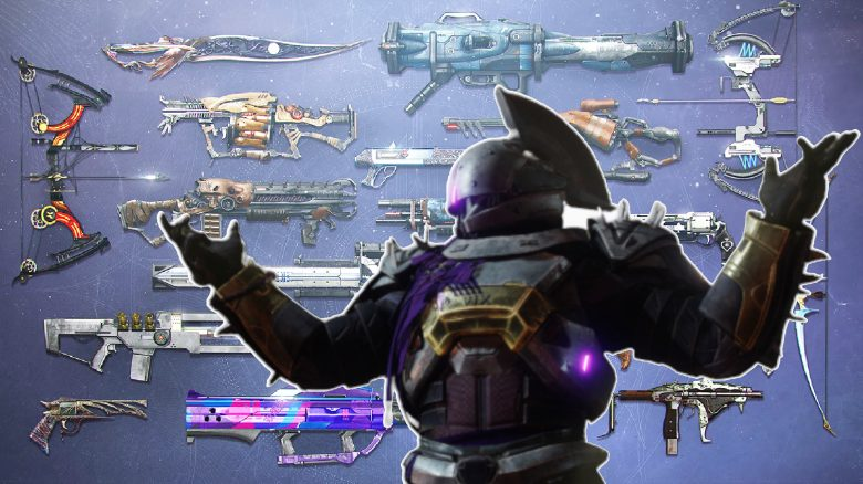 Seltene Waffen Exotics Wepons Saint Destiny Titel
