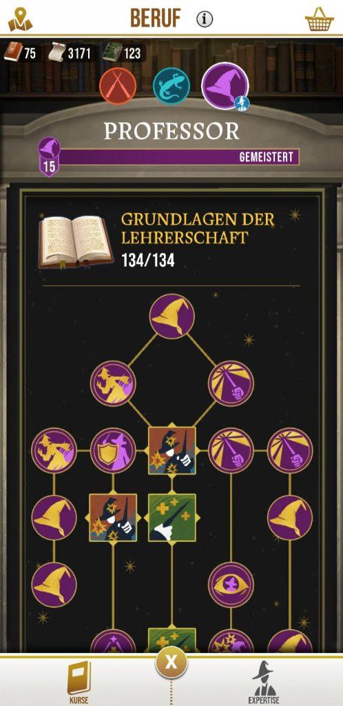 Skill Tree Beruf Wizards Unite