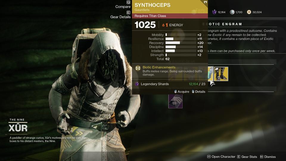 Synthozeps Xur Destiny 2
