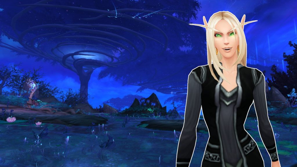 WoW Ardenweald blood elf yes titel title 1920x1080