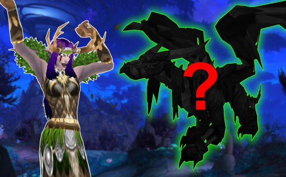 WoW Ardenweald night elf cheer mystery dragon titel title 1920x1080