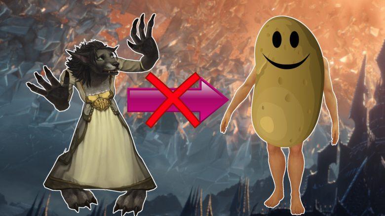 Mit WoW: Shadowlands sehen eure Worgen nicht mehr wie eine Kartoffel aus