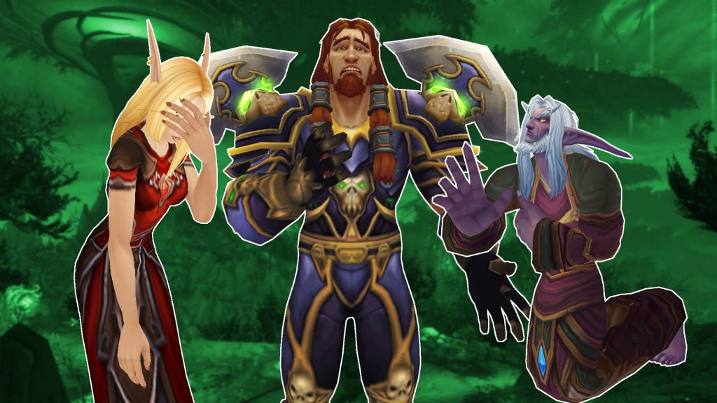 WoW sad characters blood elf human night elf titel title 1920x1080
