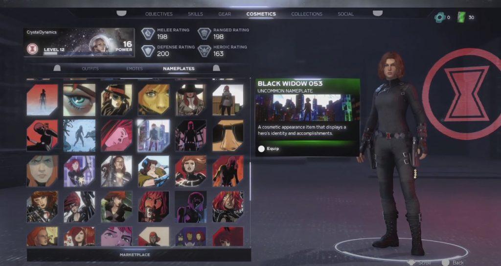 marvels avengers widow skin