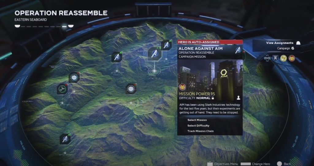 marvel avengers wartable interface