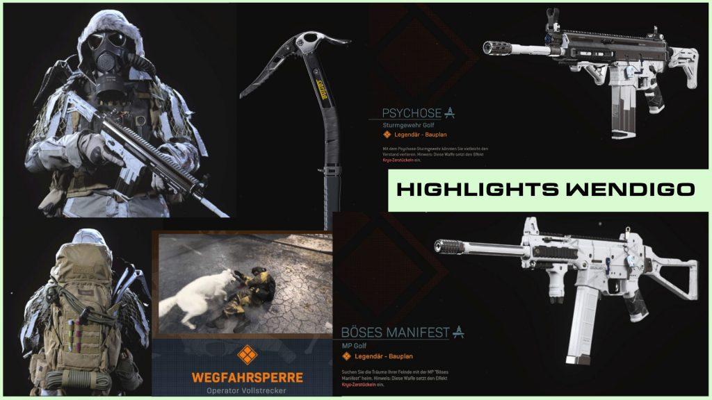 cod modern warfare warzone skin bundle wendigo highlights