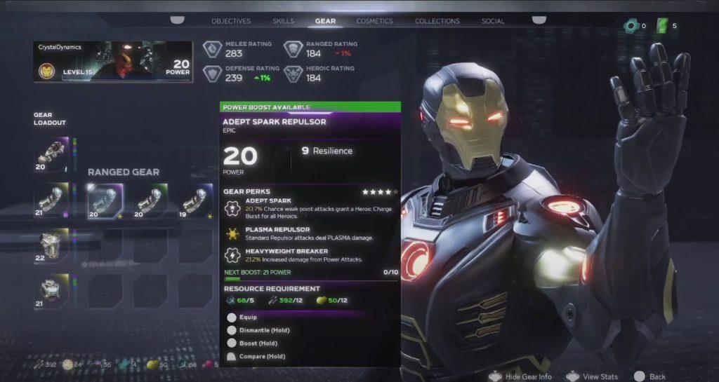 marvels avengers ironman loot 2
