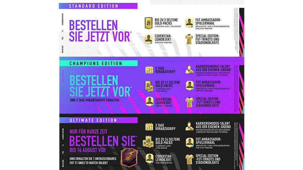 FIFA 21 Vorbesteller-Bonus