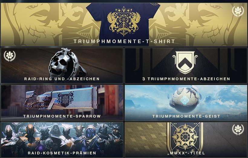 Belohnungen Triumphmomente 2020 Destiny 2