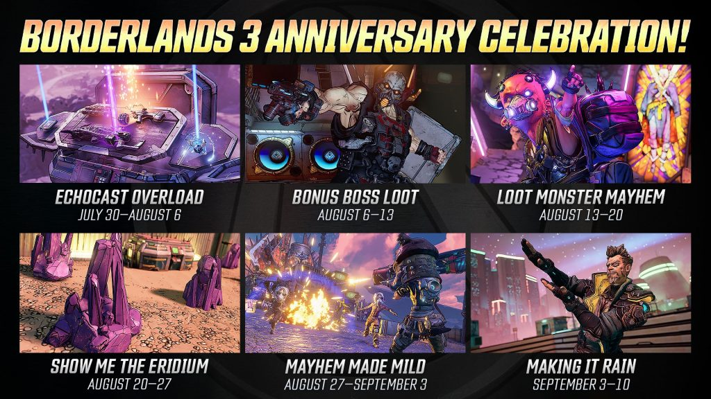 Borderlands 3 Events