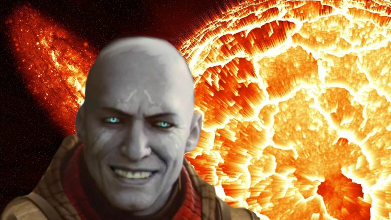 Explosion Planet Stern Sonne Zerstörung Zavala Destiny 2 titel