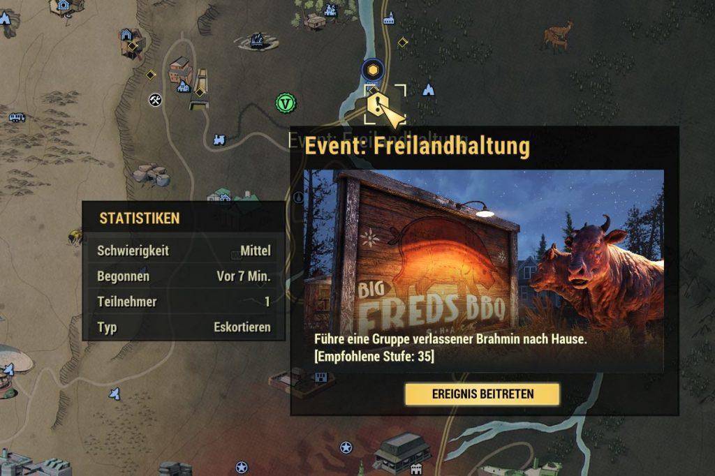 Fallout 76 öffentliches Event Freilandhaltung