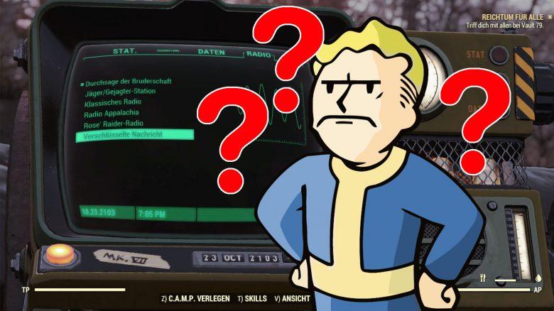 Fallout 76 geheimnisvolle Radiosender Titel