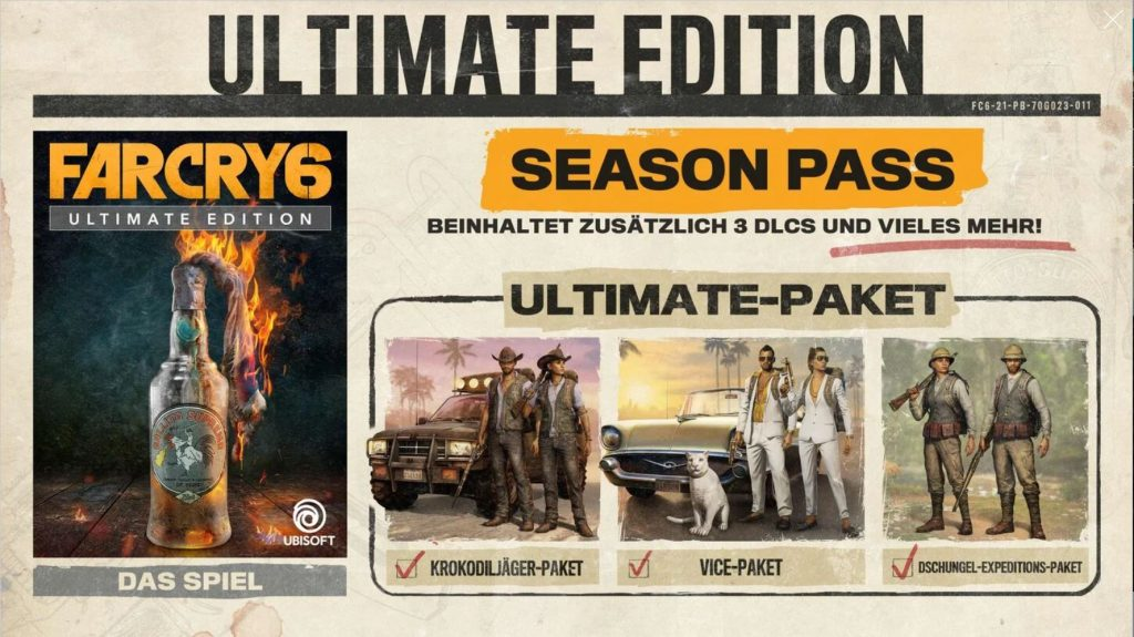Far Cry 6 Ultimate Edition Inhalte