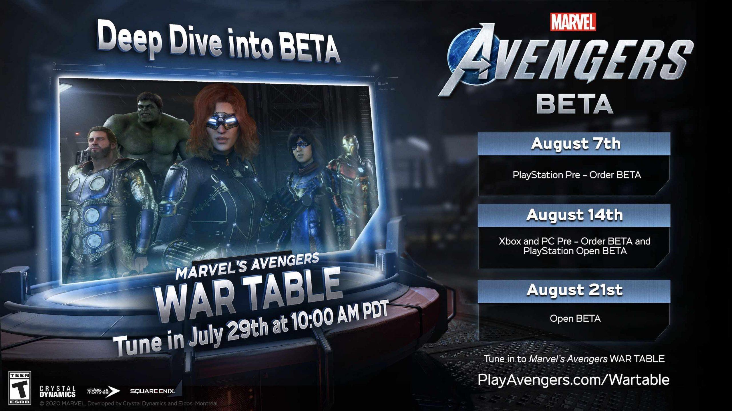 Marvels Avengers Beta Start