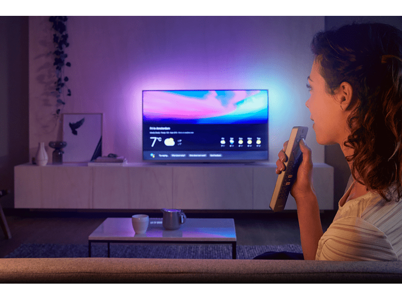 Philips-Fernseher mit Ambilight in Aktion