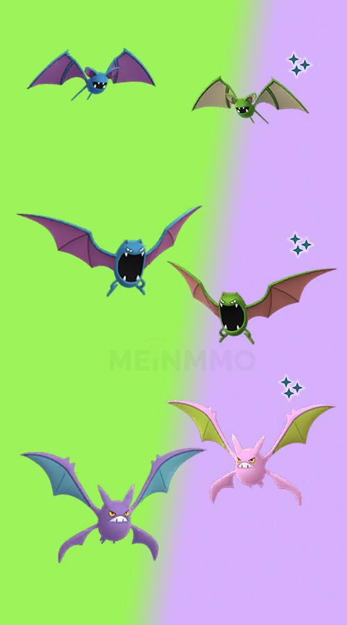 Pokémon GO Shiny Zubat Familie