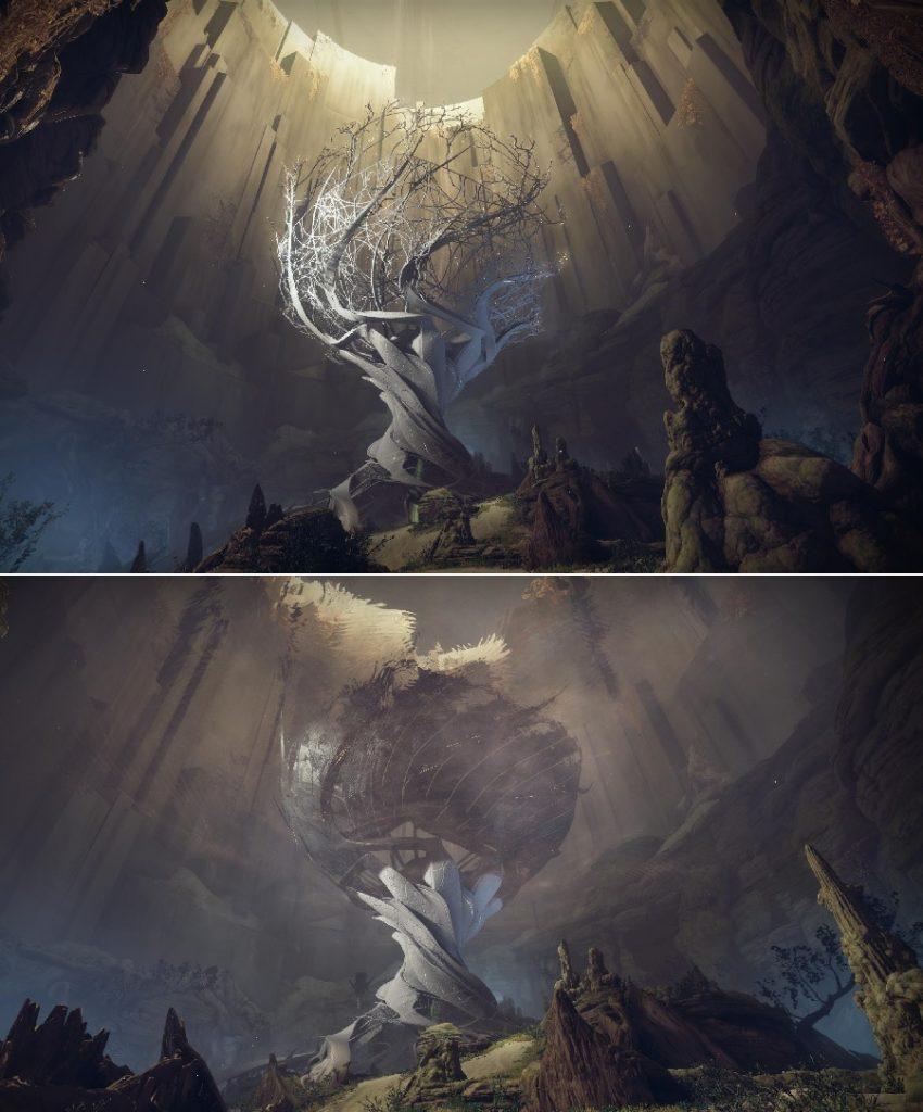 Silber Flügel Baum Lore Artefakt Destiny 2
