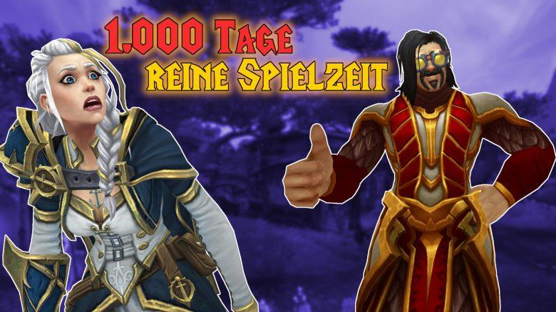 WoW 1000 Tage reine Spielzeit titel title 1920x1080
