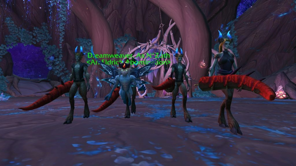 WoW Ardenweald NZoth tentacles