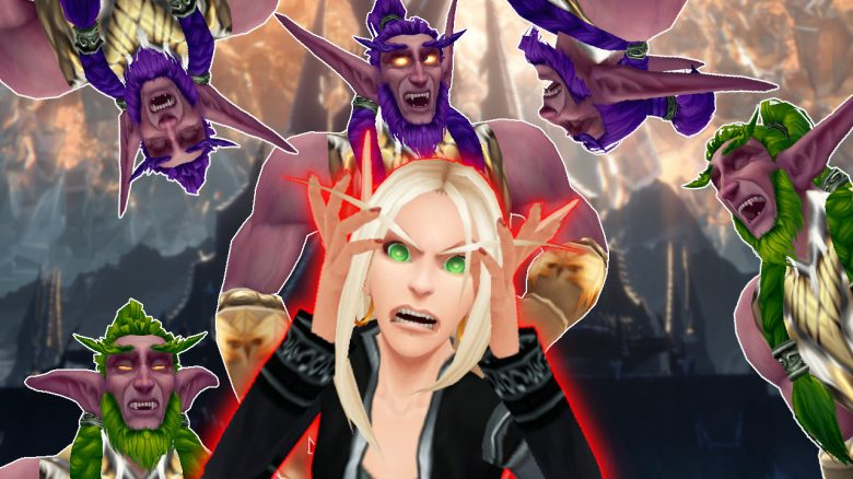 WoW Blood Elf roar night elf druids laugh titel title 1280x720