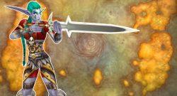 WoW Night Elf Hunter Aiming with sword titel title 1280x720